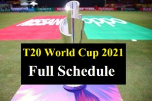 T 2O World cup Full schedule